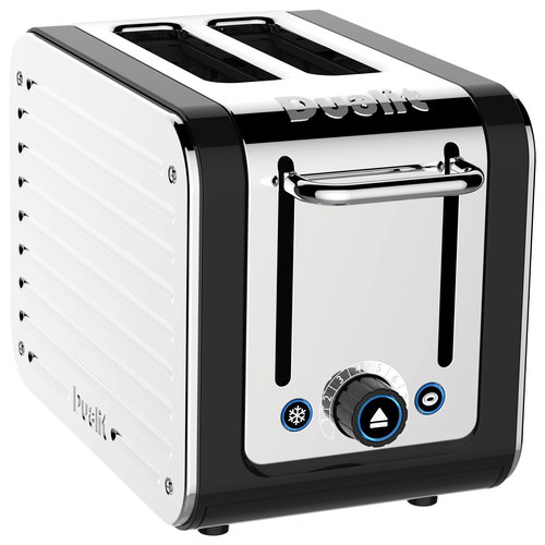 Dualit Design Series 2-Slice Extra-Wide Slot Toaster Black/Stainless Steel 26555