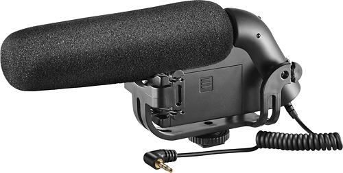 Insignia™ - On-Camera Shotgun Video Microphone - Black