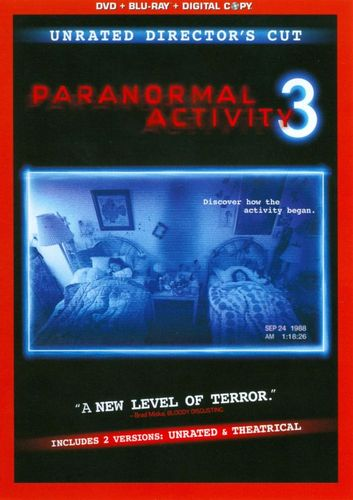 Paranormal Activity 3 [Rated/Unrated] [Inlcudes Digital Copy] [DVD/Blu-ray] [Blu-ray/DVD] [2011] 4551193