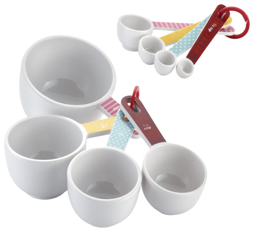 Cake Boss - 8-Piece Melamine Measuring Cups and Spoons Set - White/Multi 4554718