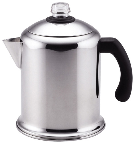 Farberware - Classic Series Yosemite 8-Cup Stovetop Percolator - Stainless Steel 4554929
