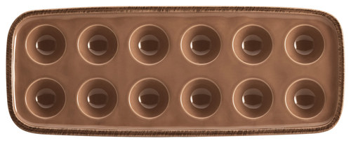 Rachael Ray - Cucina Egg Tray - Mushroom Brown