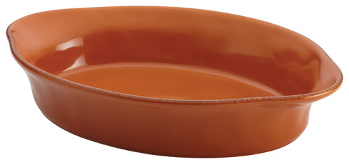 Rachael Ray - Cucina 2-Quart Oval Baker - Pumpkin Orange 4554977