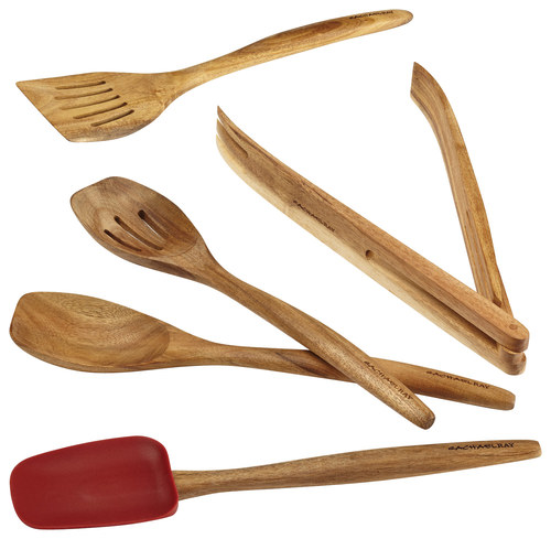 Rachael Ray - Cucina 5-Piece Wooden Tool Set - Red