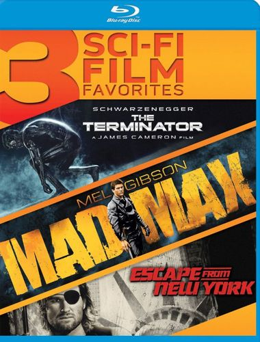 3 Sci-Fi Film Favorites: The Terminator/Mad Max/Escape from New York [Blu-ray] 4561829