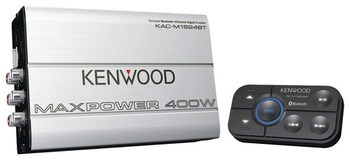 Kenwood - 400W Bridgeable Multichannel Amplifier with Low- and High-Pass Crossovers - Silver