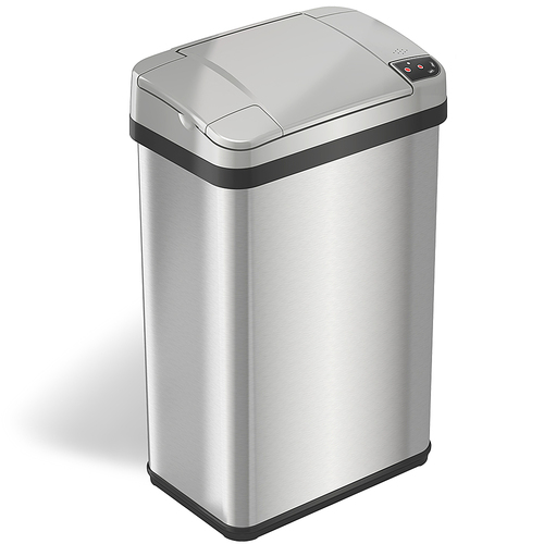 iTouchless - 4-Gal. Touchless Trash Can - Stainless Steel 4569802