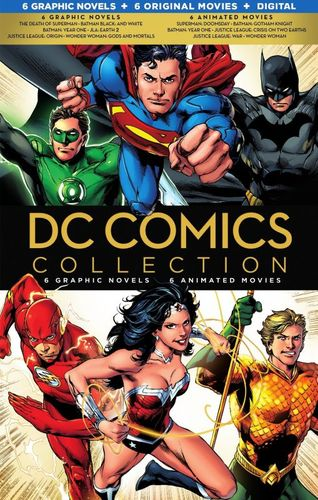 DC Comics Collection: 6 Graphic Novels - 6 Animated Movies [Blu-ray] [6 Discs] 4576602