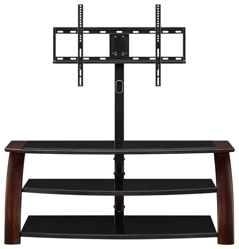 """Whalen Furniture - TV Console for Most Flat-Panel TVs Up to 65"""" - Dark Brown Cherry"""