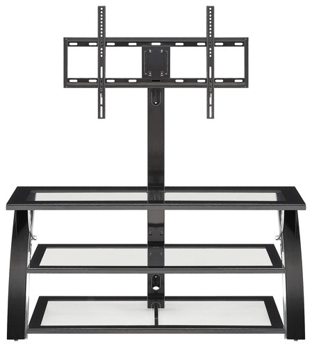 """Whalen Furniture - 3-in-1 TV Console for Most Flat-Panel TVs Up to 58"""" - Glossy Black"""