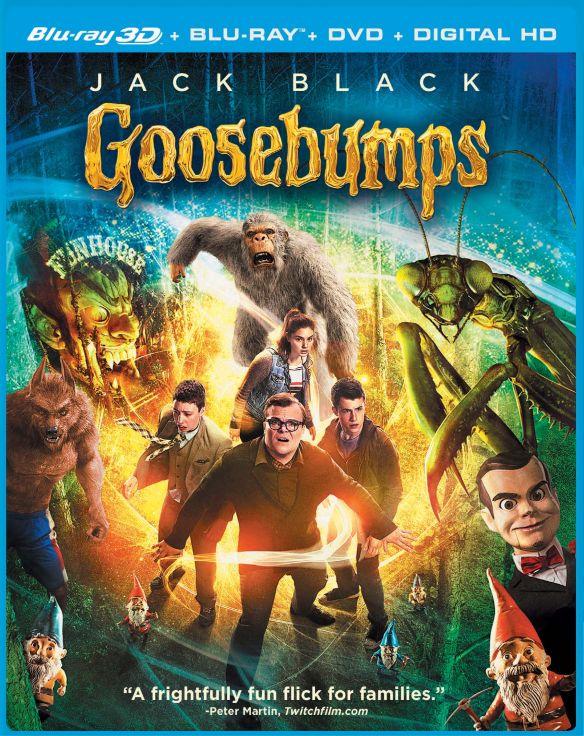Goosebumps [Includes Digital Copy] [3D] [Blu-ray/DVD] [3 Discs] [Blu-ray/Blu-ray 3D/DVD] [2015] 4595084