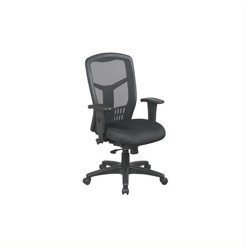 Office Star Furniture - ProGrid Mesh Manager's Chair - Black
