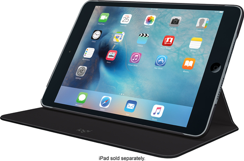 Logitech - Logi FOCUS Flexible Case for Apple® iPad® mini 4 - Black