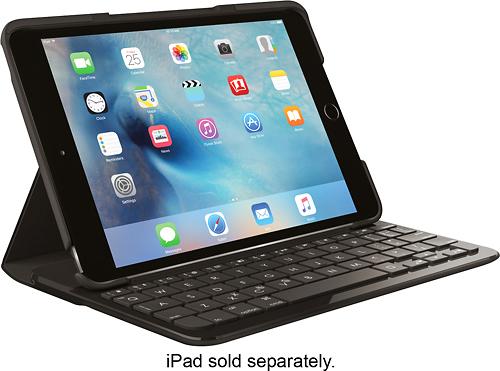 Logitech - Logi FOCUS Keyboard Folio Case for Apple® iPad® mini 4 - Black