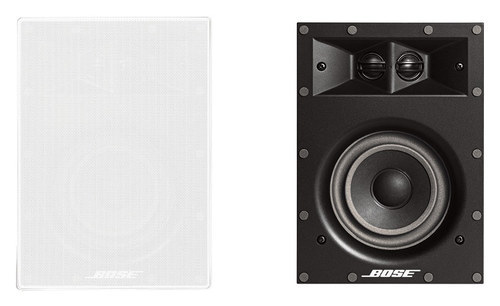 Bose® - Virtually Invisible® 691 In-Wall Speakers (Pair) - White