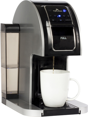 Touch - 1-Cup Coffeemaker - Black/Silver 4673500