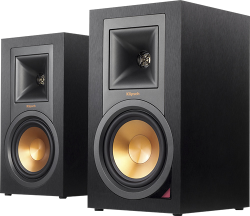 "Klipsch - Reference 5.25"" 100W 2-Way Powered Bluetooth Monitors (Pair) - Black"