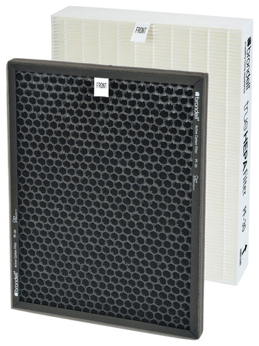 Brondell - O2+ Replacement Air Filter Pack - White/Black 4676700