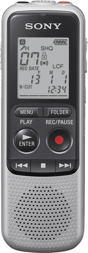Sony - BX Series Digital Voice Recorder - Silver