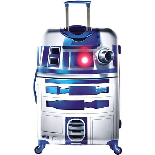 "American Tourister - Star Wars R2D2 28"" Spinner Hardside Upright Suitcase - White/Blue/Black"