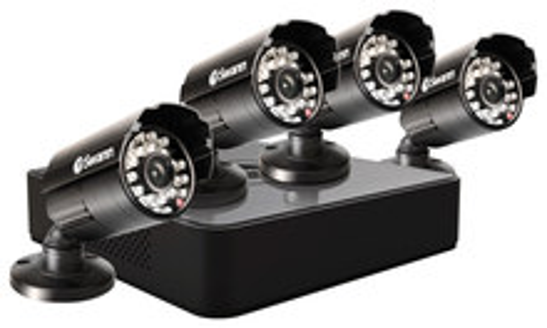 Swann 4-Channel, 4-Camera Indoor/Outdoor DVR Surveillance System Black SWDVK-4ALP14-US