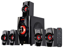 beFree Sound 5.1-Channel Bluetooth Speaker System Black/Red 91592794M