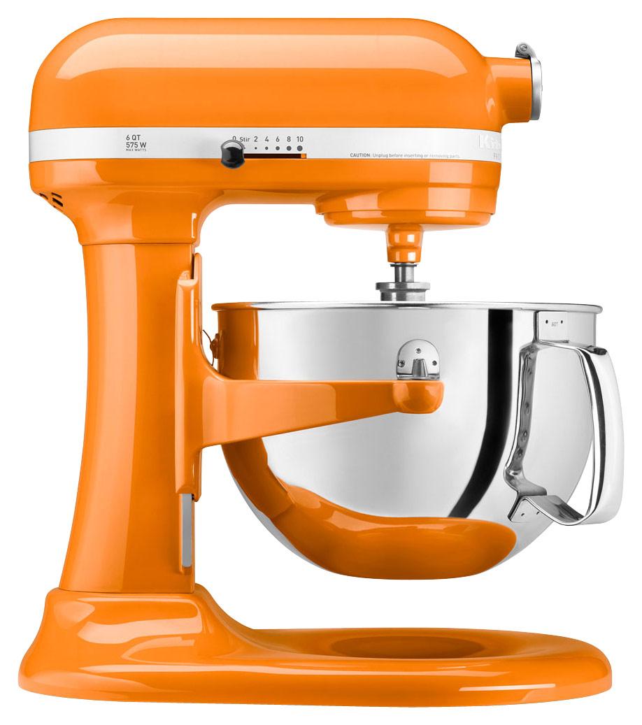 KitchenAid - KP26M1XTG Professional 600 Series 6-Quart Stand Mixer - Tangerine