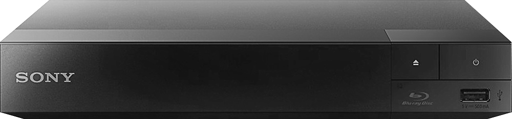 Sony BDP-S3700 Streaming Wi-Fi Built-In Blu-ray Player Black
