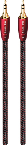 AudioQuest - Golden Gate 39.4 3.5mm-to-3.5mm Audio Cable - Red