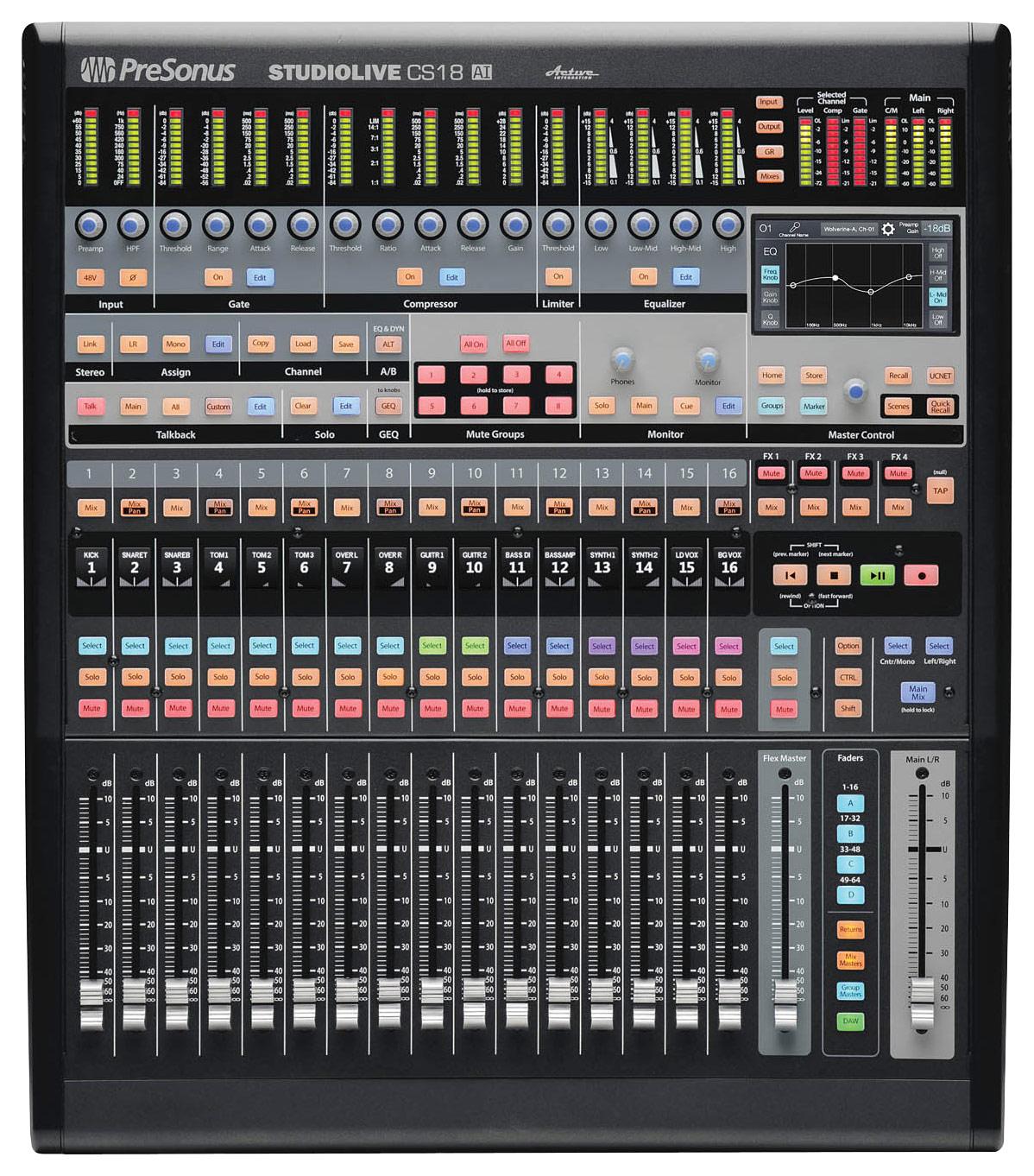 PreSonus - Ethernet/AVB Control Surface - Black largeFrontImage