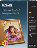 "Epson 50-Pack 8.5"" x 11"" Glossy Photo Paper S041649"