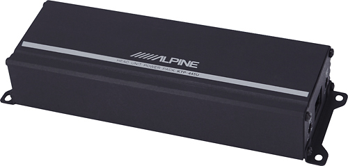 Alpine - Power Pack 180W Class D Bridgeable Multichannel Amplifier with High-Pass Filter - Black
