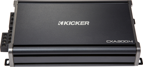 KICKER - CX Series CXA3004 600W Class AB Bridgeable Multichannel Amplifier with Built-In Crossovers - Black