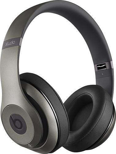 Beats by Dr. Dre - Geek Squad Certified Refurbished Beats Studio Wireless On-Ear Headphones - Titanium