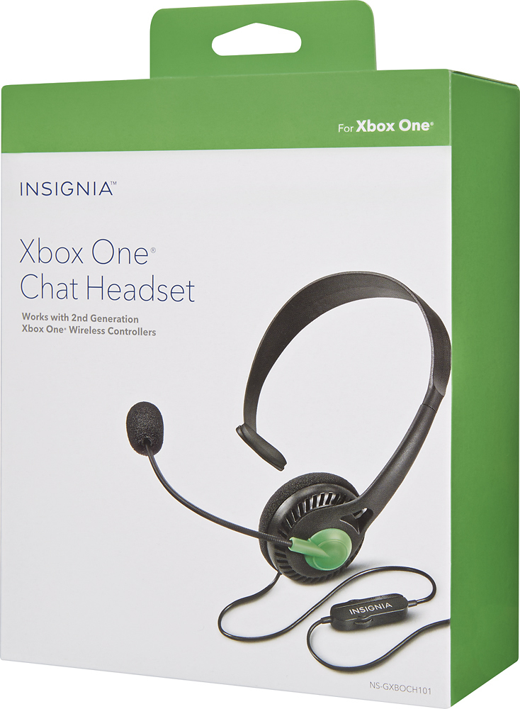 Insignia™ - Wired Chat Headset for Xbox One - Black - AAA ...