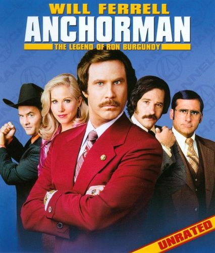 Anchorman: The Legend of Ron Burgundy [Unrated, Uncut & Uncalled For!] [Blu-ray] [2004] 4793363