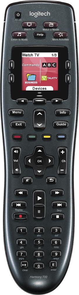Logitech - Harmony 700 8-Device Universal Remote - Black