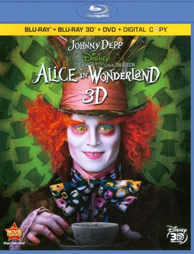 Alice in Wonderland [4 Discs] [Includes Digital Copy] [3D] [Blu-Ray/DVD] [Blu-ray/Blu-ray 3D/DVD] [2010] 4802100