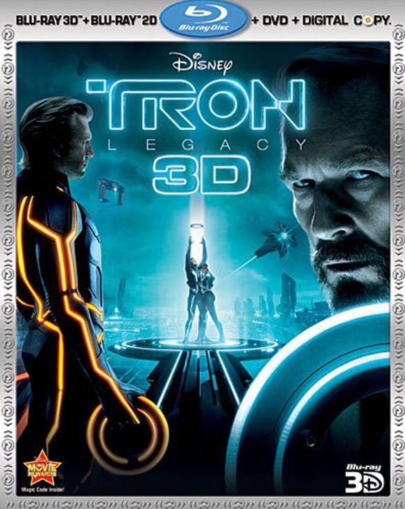 Tron: Legacy 3D [4 Discs] [Includes Digital Copy] [3D] [Blu-ray/DVD] [Blu-ray/Blu-ray 3D/DVD] [2010] 4802101