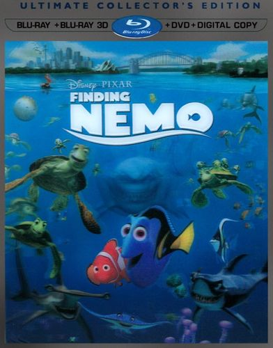 Finding Nemo [5 Discs] [Includes Digital Copy] [3D] [Blu-ray/DVD] [Blu-ray/Blu-ray 3D/DVD] [2003] 4802110
