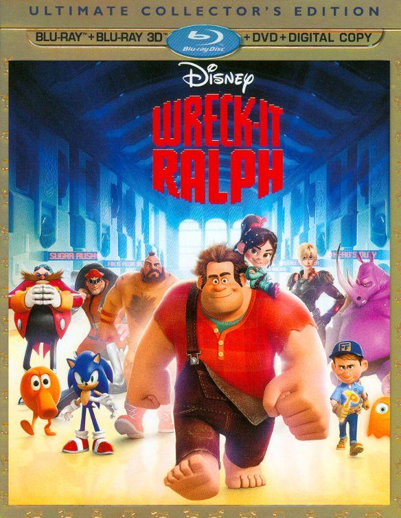 Wreck-It Ralph [4 Discs] [Includes Digital Copy] [3D] [Blu-ray/DVD] [Blu-ray/Blu-ray 3D/DVD] [2012] 4802111