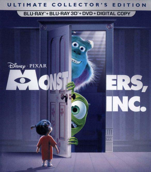 Monsters, Inc. [5 Discs] [Includes Digital Copy] [3D] [Blu-ray/DVD] [Blu-ray/Blu-ray 3D/DVD] [2001] 4802114