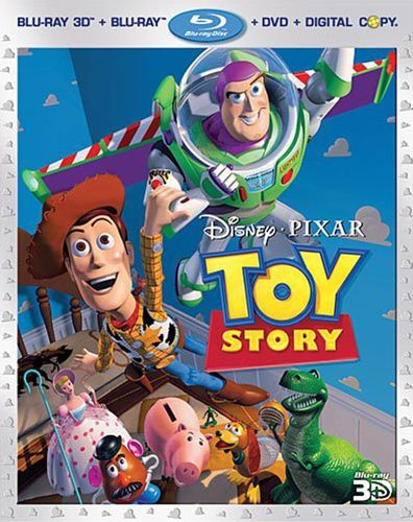Toy Story [4 Discs] [Includes Digital Copy] [3D] [Blu-ray/DVD] [Blu-ray/Blu-ray 3D/DVD] [1995] 4802120