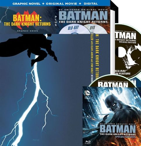 Batman: The Dark Knight Returns [Deluxe Edition] [Includes Graphic Novel] [Blu-ray] 4802700