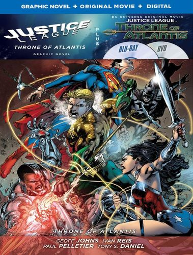 Justice League: Throne of Atlantis [Includes Graphic Novel] [Includes Digital Copy] [Blu-ray/DVD] [2015] 4802705