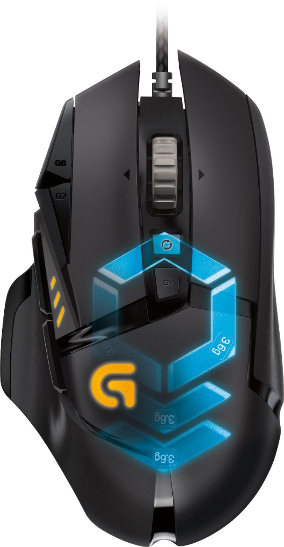Logitech G502 Proteus Spectrum Optical Gaming Mouse Black 910-004615