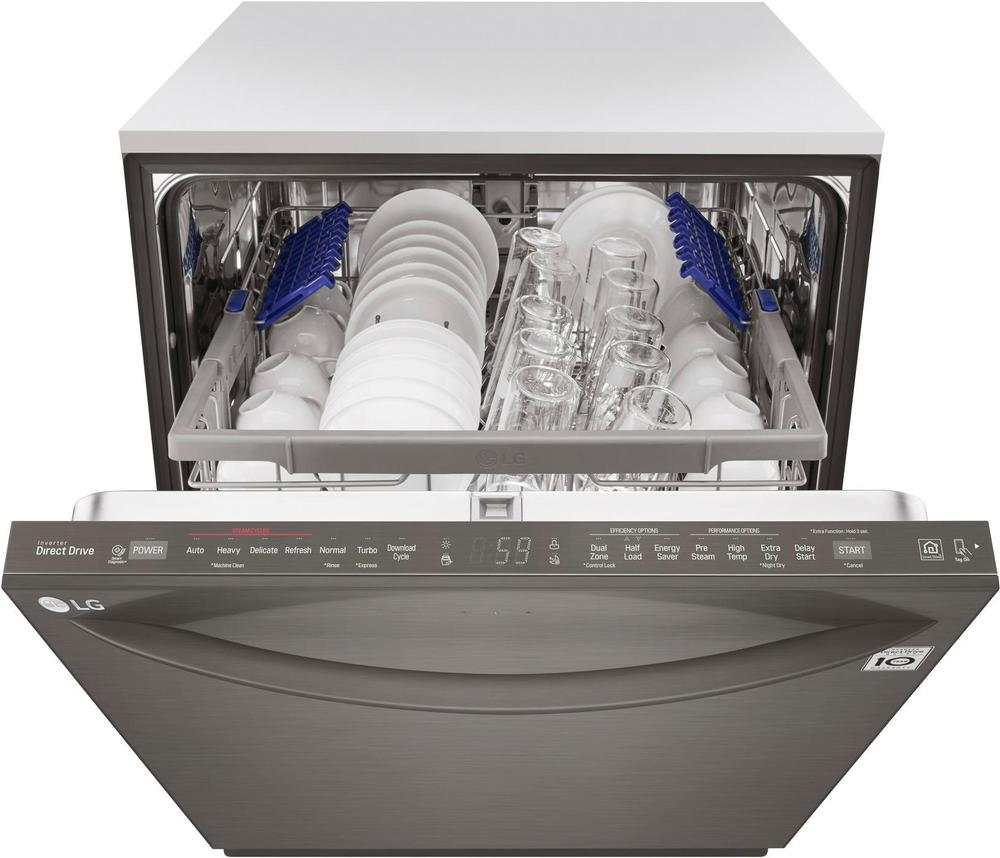 "LG LDT5665BD 24"" Top Control Built-In Dishwasher with Stainless Steel Tub Black stainless steel"