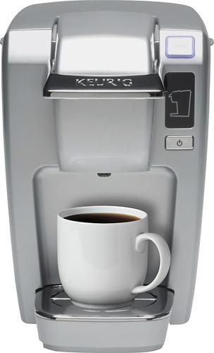 Keurig - K-Mini K15 Single-Serve K-Cup Pod Coffee Maker - Platinum 4835600