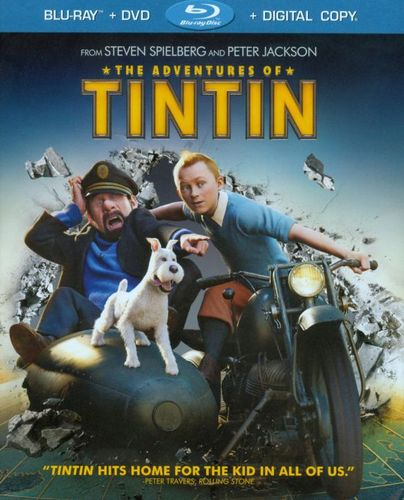 The Adventures of Tintin [2 Discs] [Includes Digital Copy] [UltraViolet] [Blu-ray/DVD] [2011] 4843631