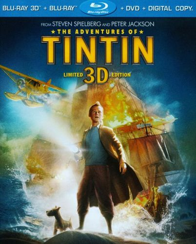 The Adventures of Tintin 3D [3 Discs] [Includes Digital Copy] [UltraViolet] [3D] [Blu-ray/DVD] [Blu-ray/Blu-ray 3D/DVD] [2011] 4843668